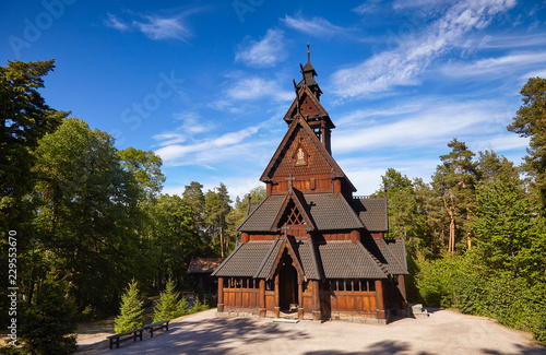 Canvas Print Gol Stave Church Folks museum Bygdoy peninsula Oslo Norway Scandanavia