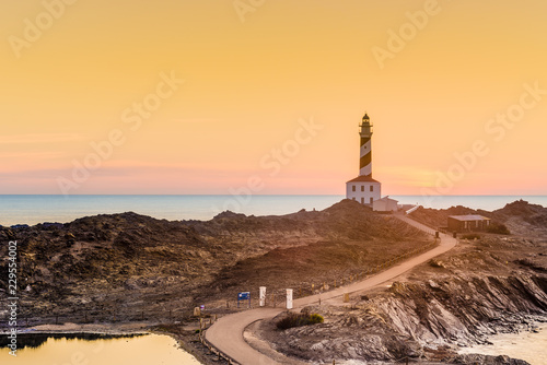 Poster Cote Favaritx Lighthouse in Minorca, Spain.