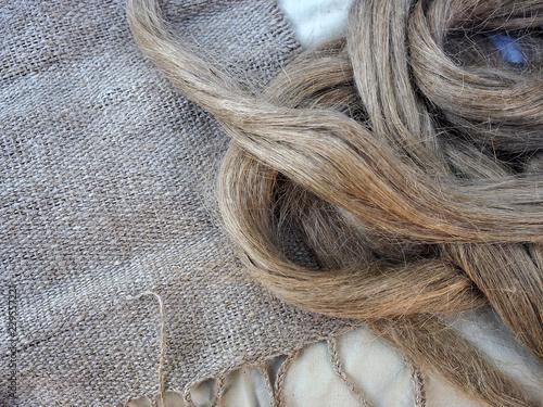 Obraz Fibra de lino y tejido - fototapety do salonu
