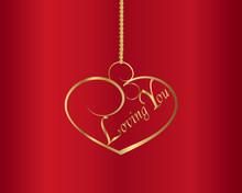 Valentine-Gold Pendent