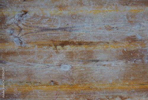 Fotografie, Obraz  Fondo de madera pintada y sucia