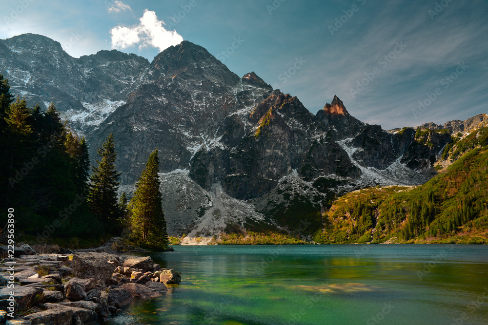 Fototapety, obrazy: Tatra mountain in the autumn season.