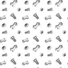 Seamless Pattern Hand Drawn Wr...