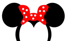 Mouse Ears With Red Bow Headba...