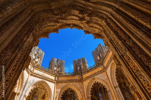 Unfinished Chapel in Batalha Monastery - Portugal Canvas Print