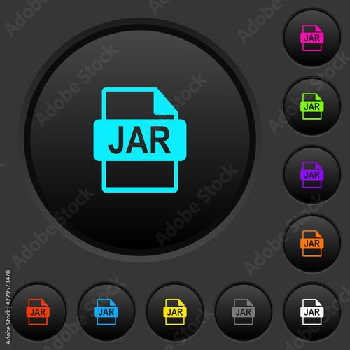 JAR file format dark push buttons with color icons Wallpaper Mural