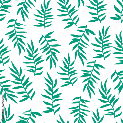 Foto op Canvas Kunstmatig Floral seamless pattern with branches and leaves. Vector illustration.