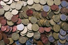 Heap Of Various Coins