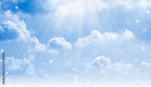 Obraz na plátně  schnee fällt vom himmel