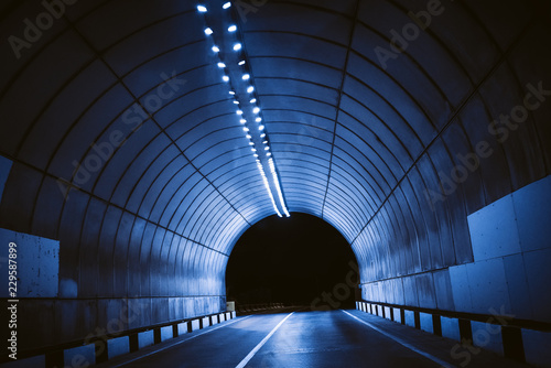 Poster Tunnel tunnel road perspective