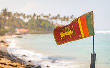 Sri Lanka Flag In The Mirissa ...