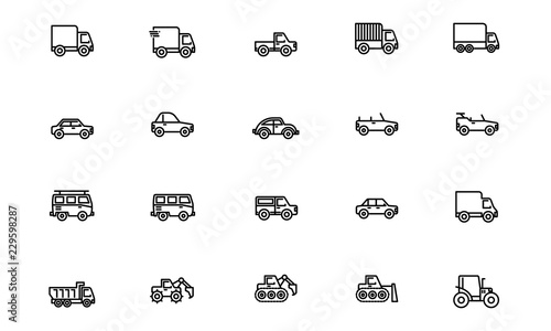 Photo Transportation - Outline. Editable Stroke. 64x64 Pixel perfect.