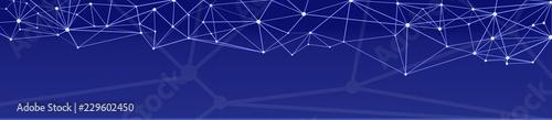 Fototapeta digital vernetzt blauer hintergrund obraz na płótnie