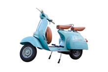 Light Blue Vintage Motorcycle ...