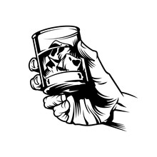 Male Hand Holding Glass Of Whiskey