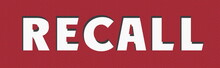 RECALL Post Stamp Banner