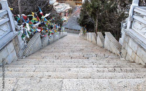 Fototapety, obrazy: Stairs to Temple