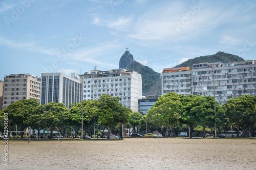 Botafogo skyline with Corcovado mountain on background - Rio de Janeiro, Brazil