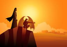 Satan Tempts Jesus In The Wild...