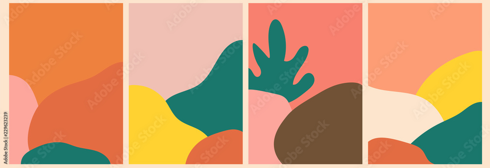 Fototapeta Abstract background, template, artistic covers design, colorful texture. Trendy pattern, graphic poster, geometric brochure, card. Vector illustration.