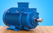Blue Industrial Electric Motor...