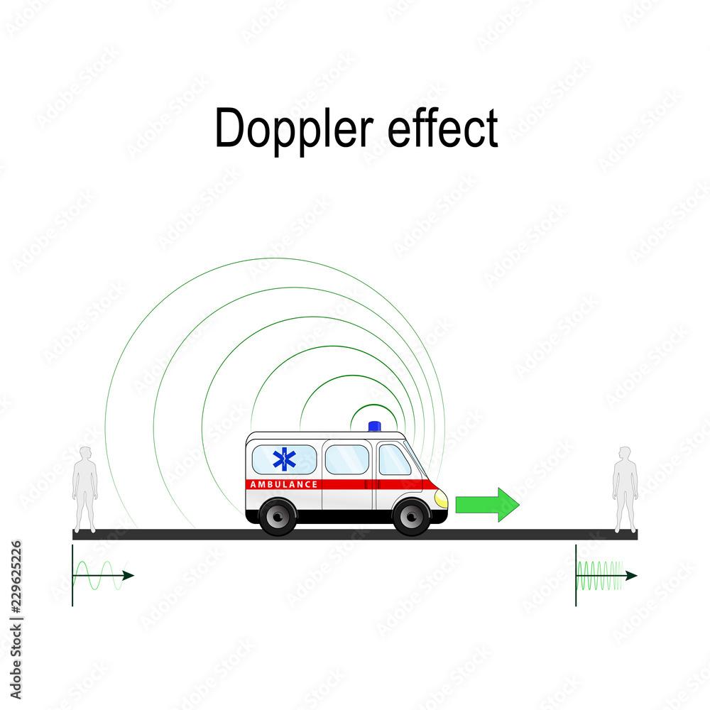 Fototapety, obrazy: Doppler effect example Ambulance siren