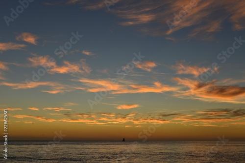Autumn sunrise, Jersey, U.K. Beautiful morning sky.