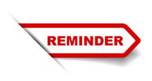 Red Vector Banner Reminder