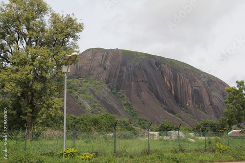 Fototapeta Zuma Rock, a large monolith, an igneous intrusion composed of gabbro and granodiorite, located in Niger State, Nigeria, near the capital Abuja