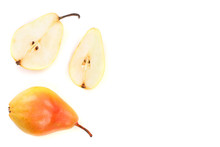 Ripe Red Yellow Pear Fruits Is...