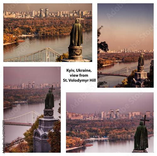 Kyiv view from Saint Volodymyr Hill