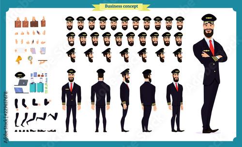 Fotografía  Pilot character creation set
