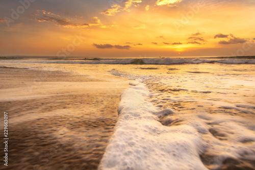 Spoed Foto op Canvas Zee zonsondergang sunset on Kuta beach