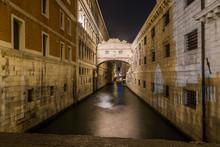Italy, Venice, Bridge Of Sighs...