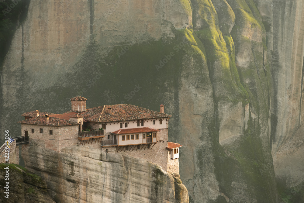 Fototapety, obrazy: The Roussanou Monastery in Meteora Greece during Sunrise