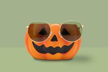Halloween Pumpkin With Glasses...