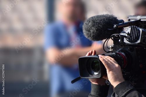 TV Kamera Team Fototapeta