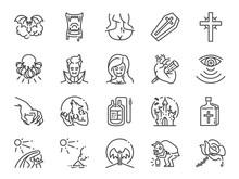 Vampire Line Icon Set. Include...