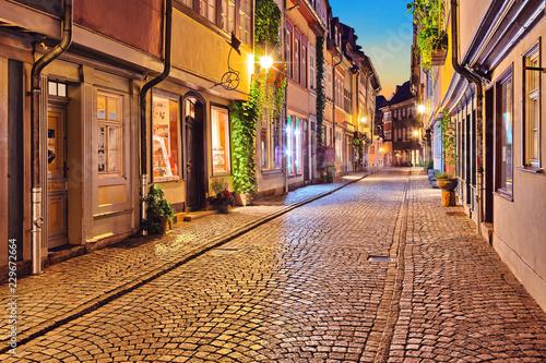 Canvas Prints Narrow alley Erfurt Krämergasse Thüringen