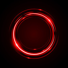 Abstract Circle Light Red Fram...