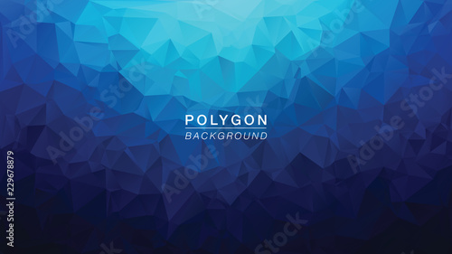Polygon Dark Blue