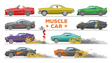 Muscle Car Vector Racing Speed...