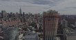 Drone 4K Footage Fly Over NYC Mid Town West Side View Side Dolly Day Shot Version 4