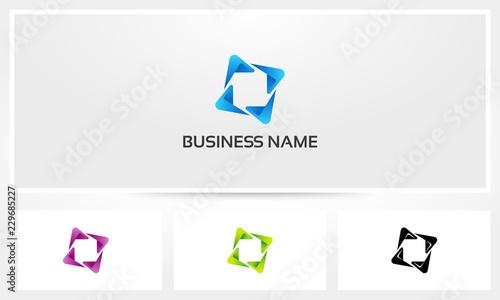 Photo Abstract Shape Tick Boomerang Logo