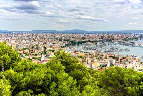 Plakat Port Palma de Mallorca stolica Mallorca łódź jacht