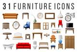Set of 31 furniture icons - 229692030