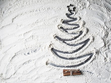 Shaped Christmas Tree Of Flour...