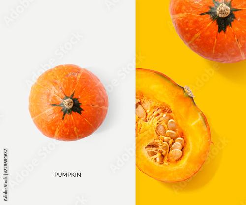 Obraz na płótnie Creative layout made of pumpkin