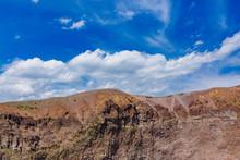 Crater Of Mount Vesuvius, In Italy