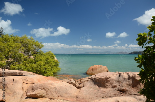 In de dag Eiland magnetic island coastline, Queensland, Australia